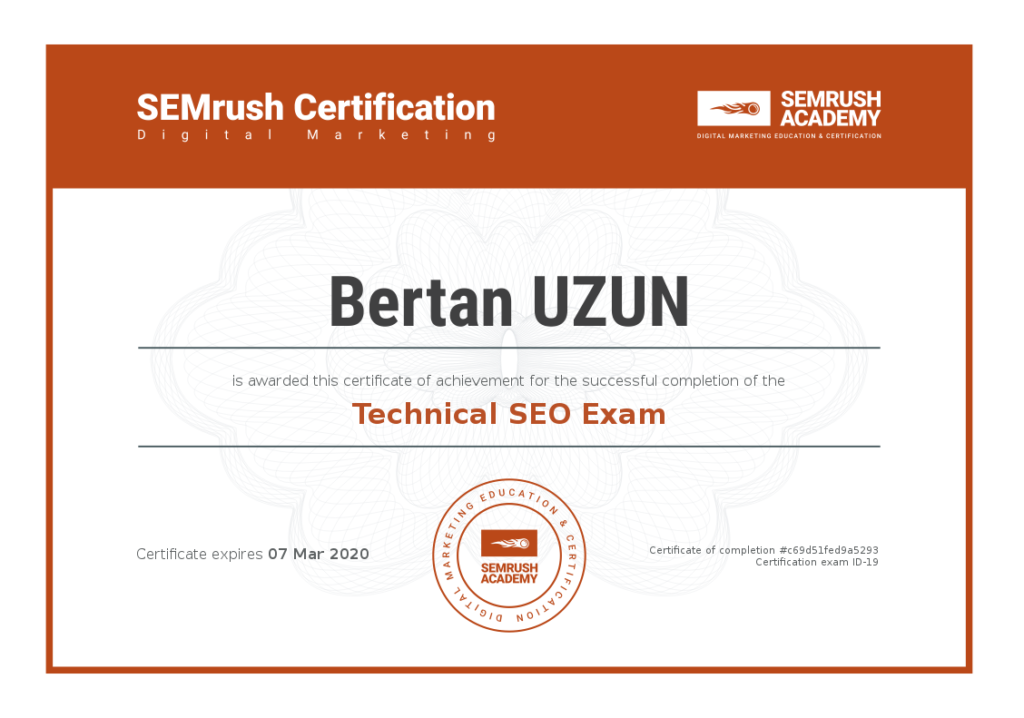 SEMrush Technical SEO